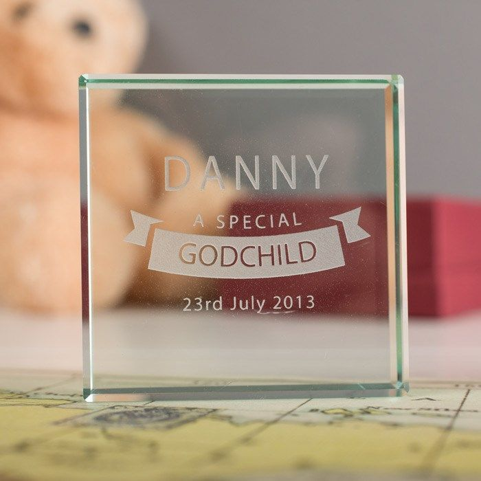 Personalised Glass Token - Special Godchild | Personalised Gifts by GettingPersonal.co.uk