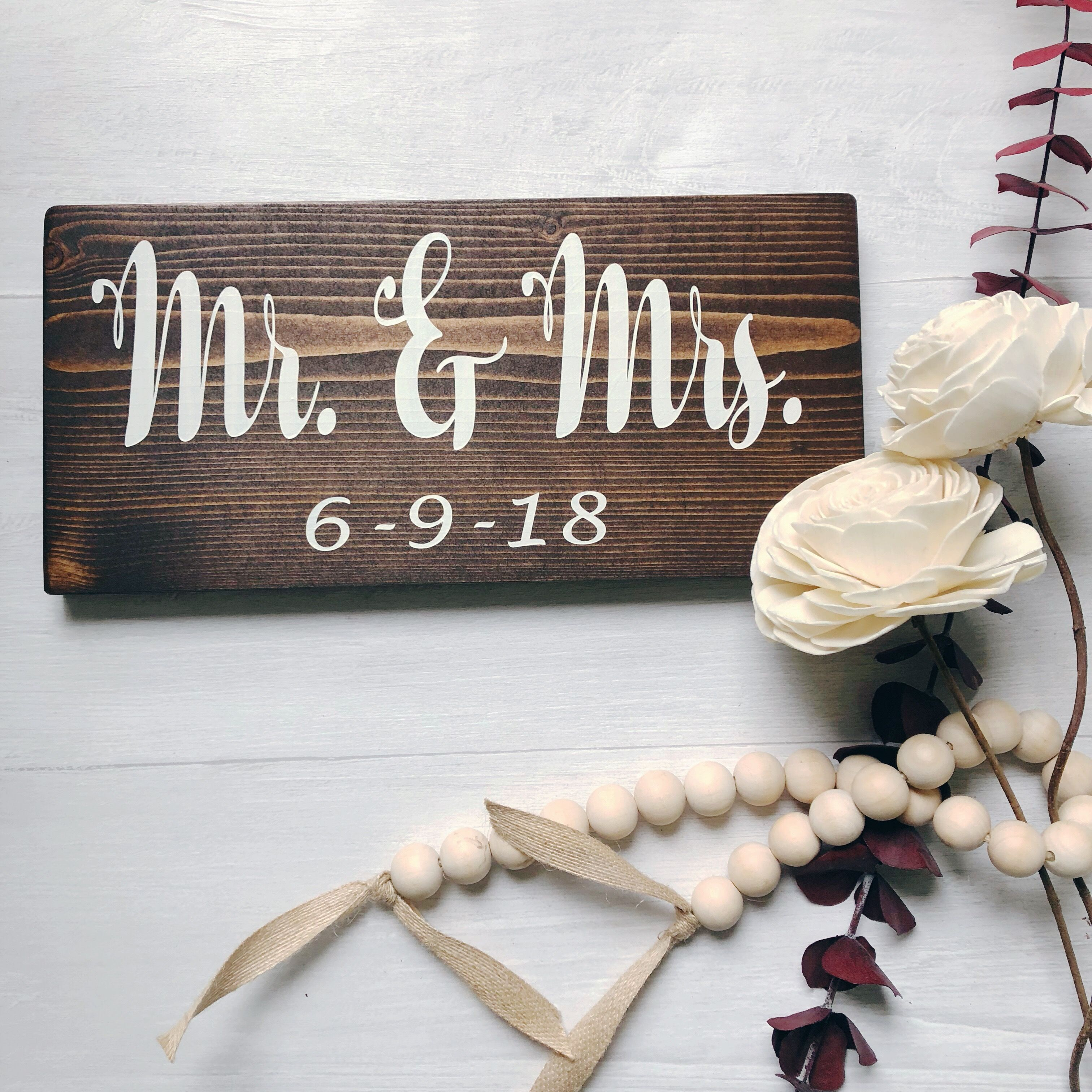 Mr and Mrs sign Mr Mrs Wedding sign Mr and Mrs wedding