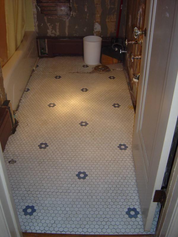 New Hex Tile Floor Old House Forum Gardenweb Hex Tile Floor