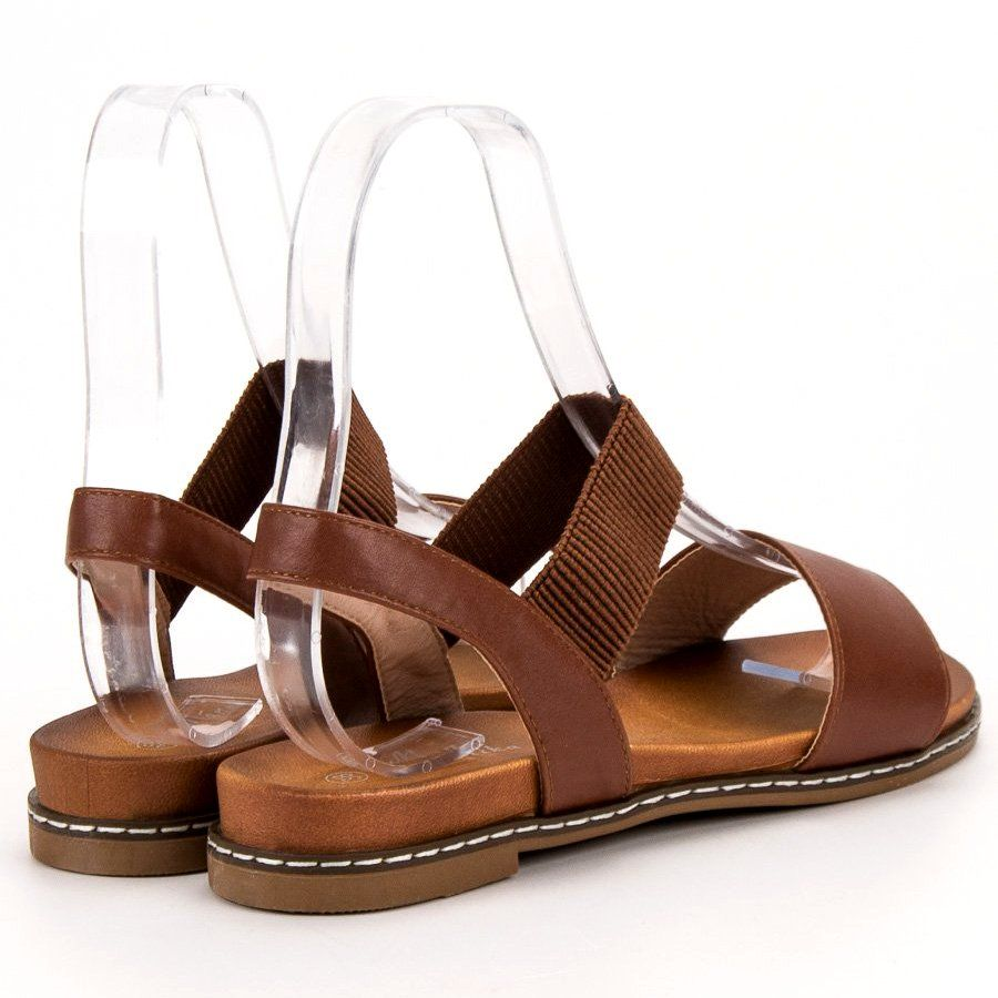 Mannika Brazowe Sandalki Shoes Sandals Fashion