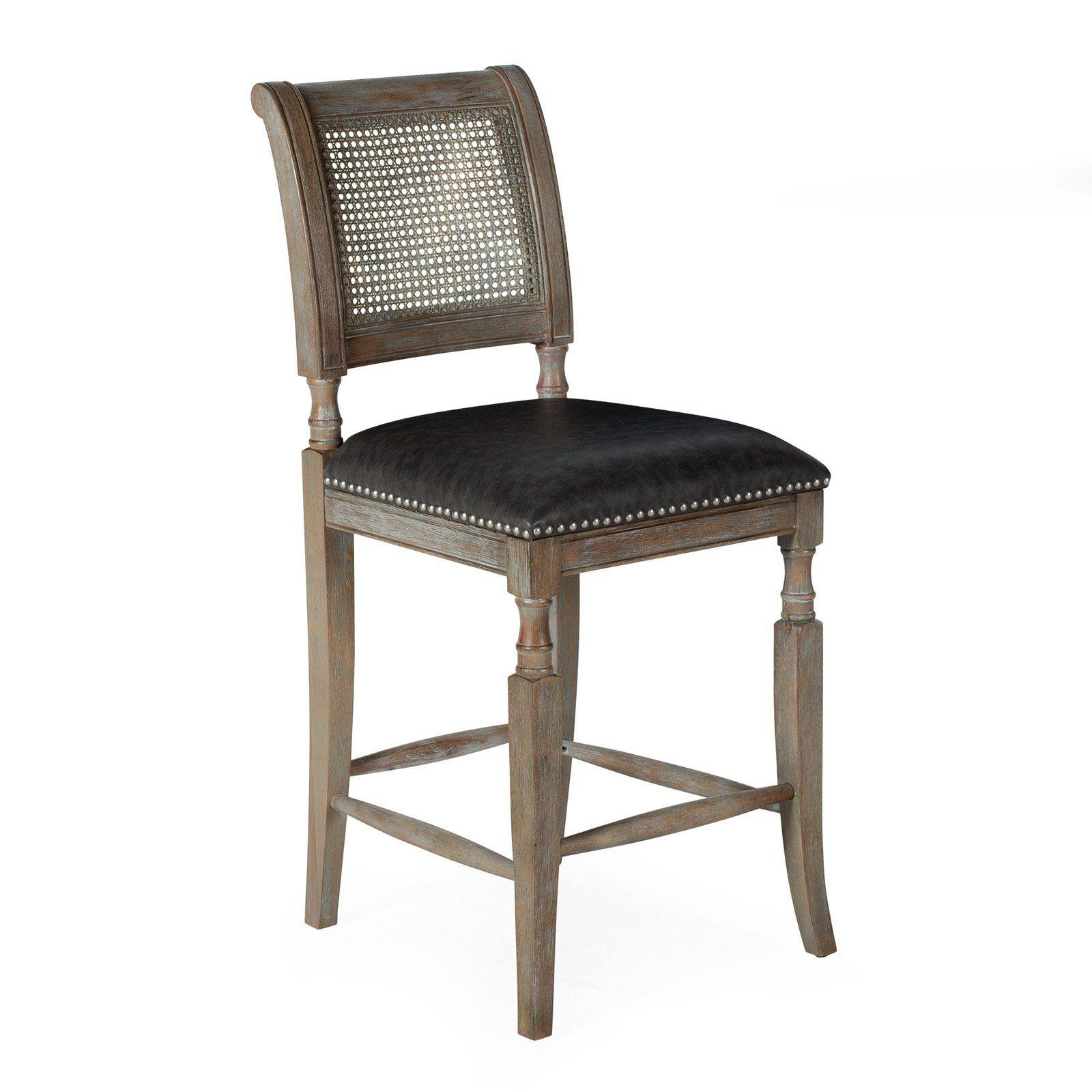 Astounding Belham Living 26 In Preston Cane Back Counter Stool Gray In Unemploymentrelief Wooden Chair Designs For Living Room Unemploymentrelieforg