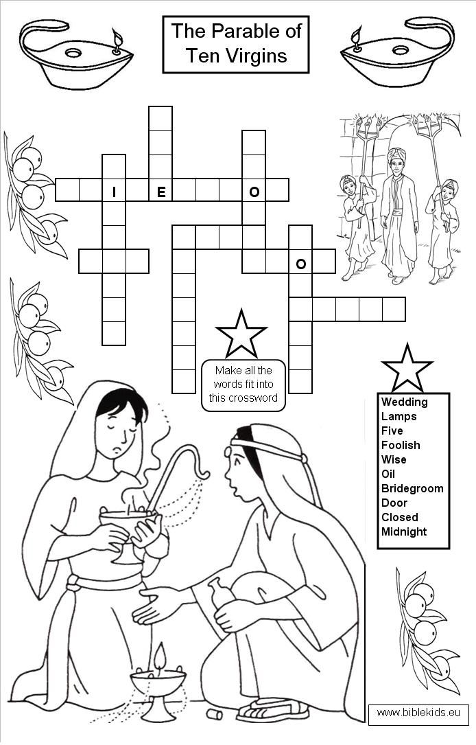 coloring pages 10 virgins - photo#24