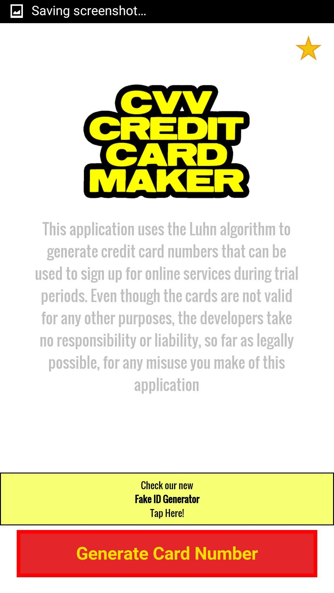 Credit card generator with cvv business card credit