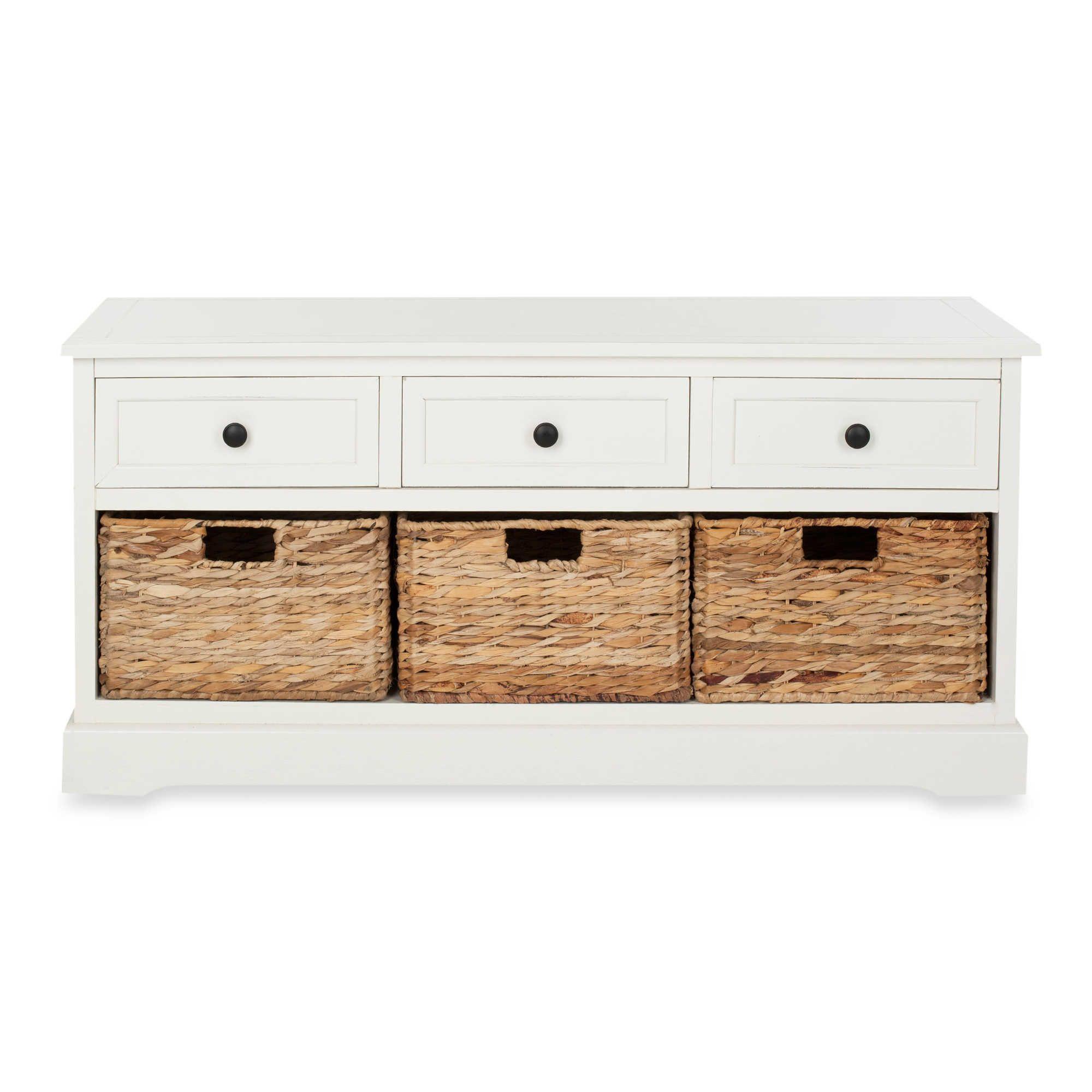 Safavieh Damien 3 Drawer Storage Unit Storage Bench Wood