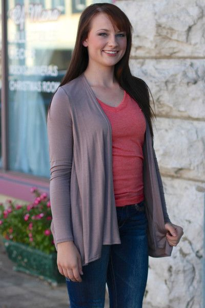 Go To Cardigan {Mocha} | The Fair Lady Boutique