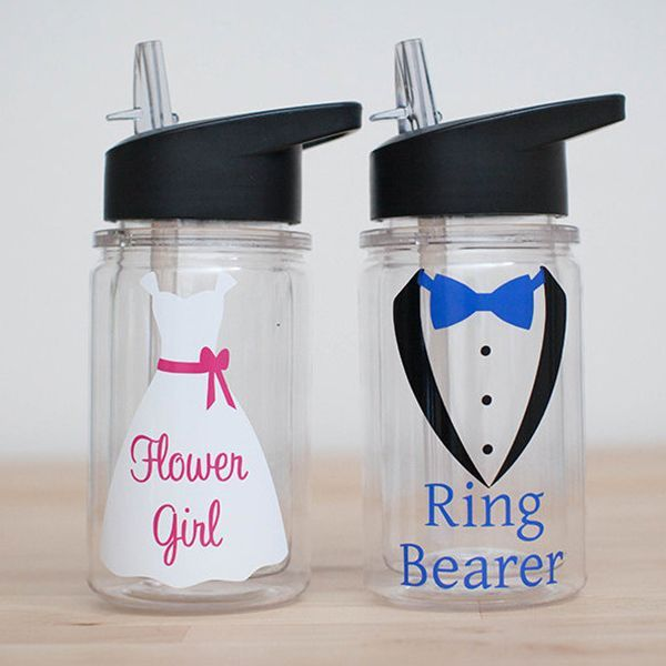 personalized ringbearer cup wedding party bottle Personalized Flower girl cup Ring Bearer cup flower girl water bottle wedding favor