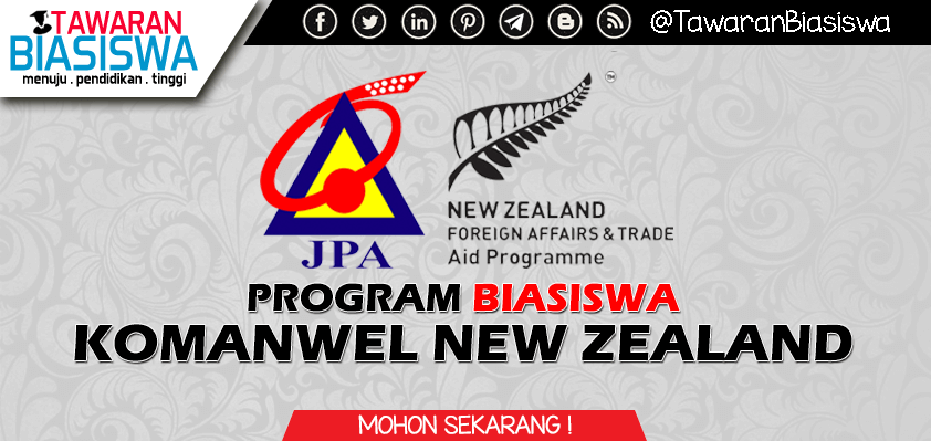 Permohonan Biasiswa Komanwel New Zealand 2020 in 2020