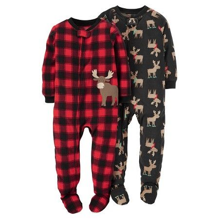 6e2afc7c7 1-Piece Fleece Pajamas 2-Pack Moose - Just One You™Made by Carter's ...