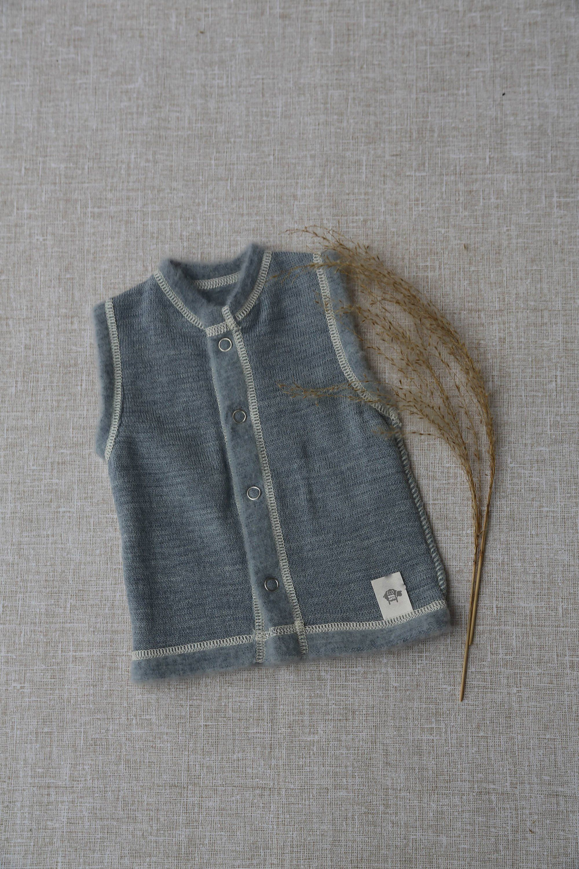 46ca3e922 Baby vest Merino wool baby vest Toddler vest Pure merino vest Baby ...