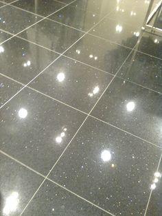 Black And Glitter Flooring Bathroom Tile Diy Glitter Floor Sparkle Tiles