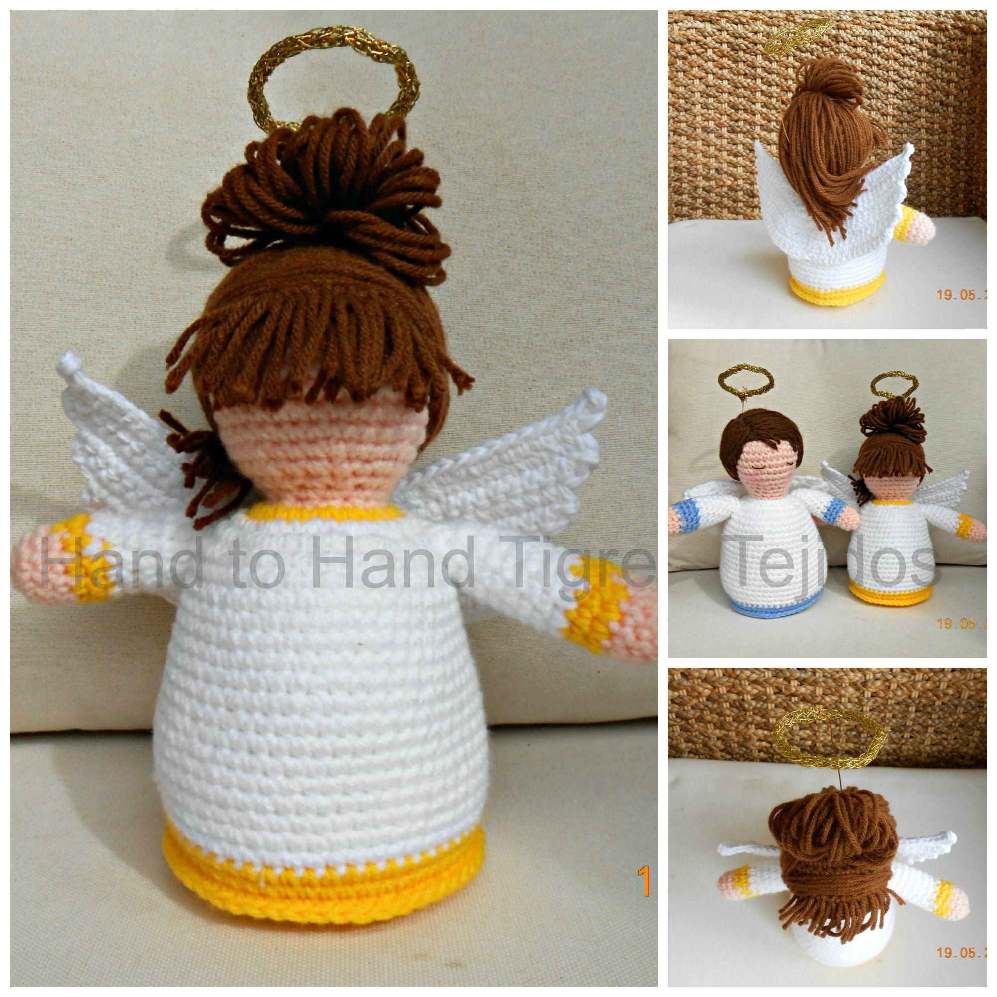 Amigurumi Angel Girl - by Hand to Hand Tigre - Tejidos. https://www.facebook.com/photo.php?fbid=462199407201157=a.356288284458937.88856.356270324460733=1