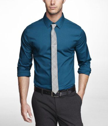 Mens dress shirts teal color