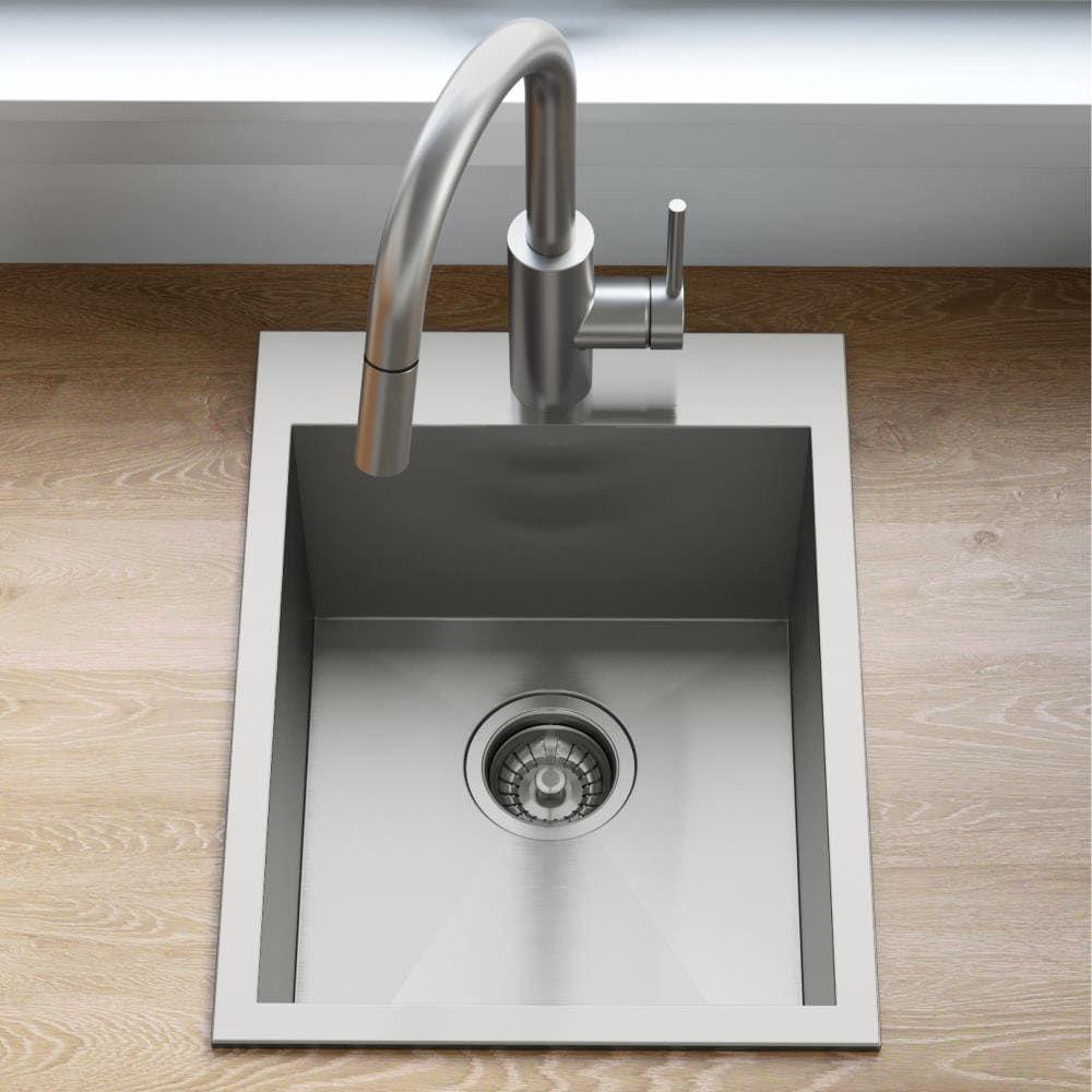Kraus Pax Drop In 15 In X 20 In Stainless Steel Single Bowl 1 Hole Kitchen Sink Lowes Com In 2021 Sink Single Bowl Kitchen Sink Drain Opener