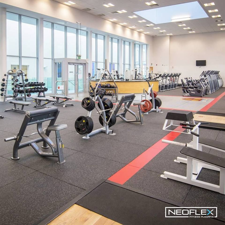Neoflex Premium Gym Tiles For The Student Fitness Centre At Institute Of Technology Carlow In Ireland Gym Flooring Rubber Gym Flooring Gym