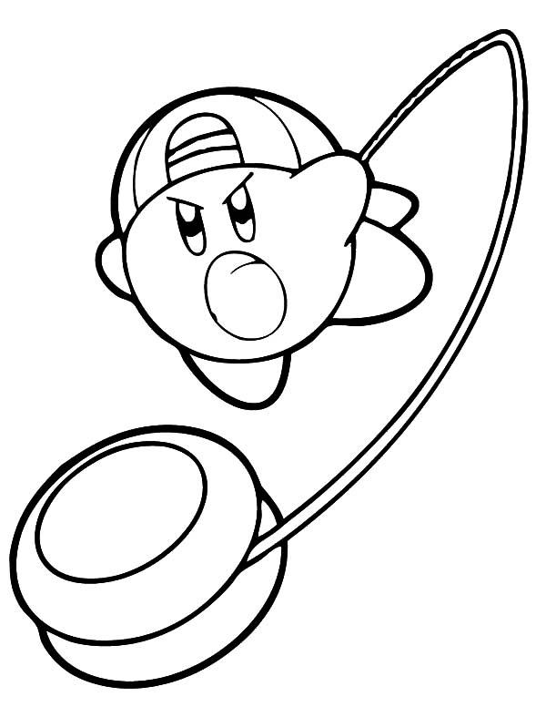 Kirby With Yo Yo Weapon Coloring Pages Kids Play Color Coloring Pages Disney Coloring Pages Line Artwork