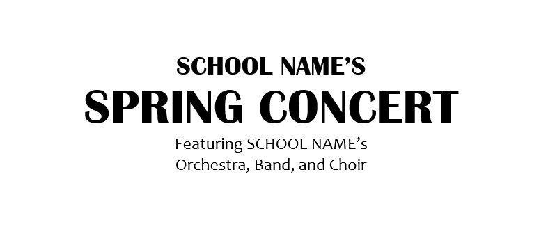 Band, orchestra, choir concert program template for Word