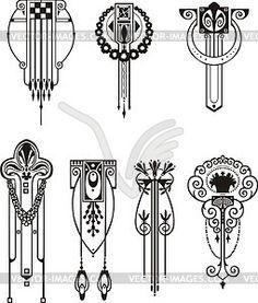 Deco cliparts | Art Deco Design | Pinterest | Art deco design ...