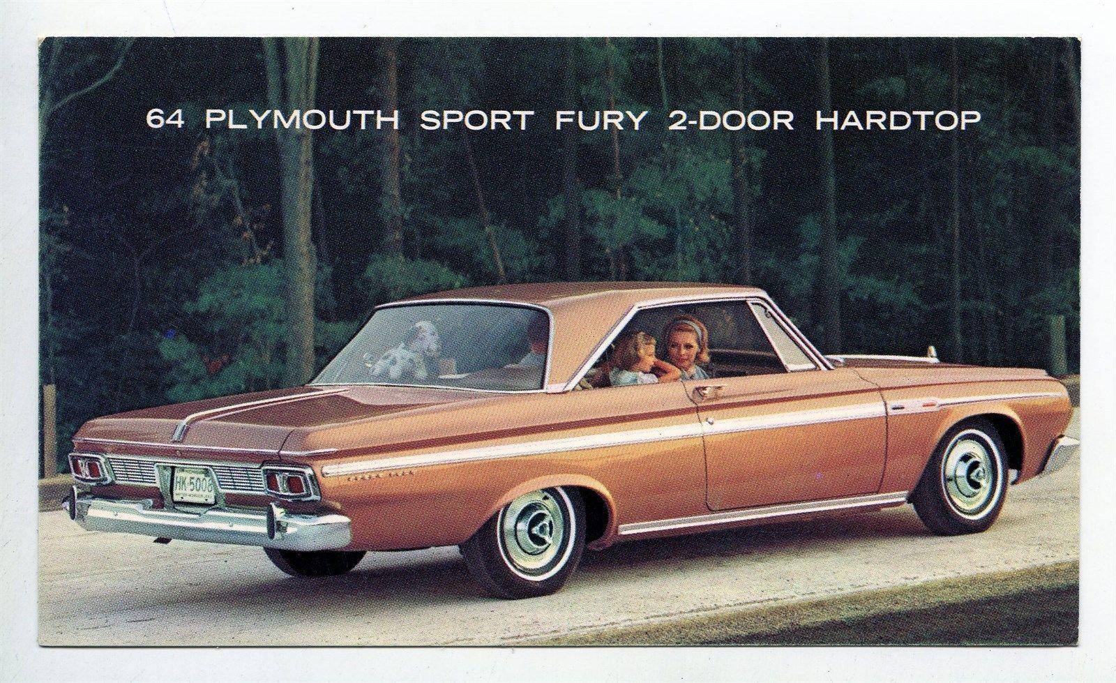 1964 Plymouth Sport Fury 2 Door Hardtop ORIGINAL Factory