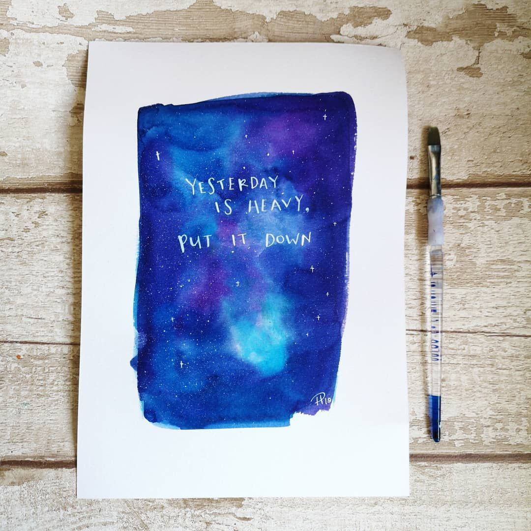 A Print Of One Of My Watercolour Paintings Featuring The Words