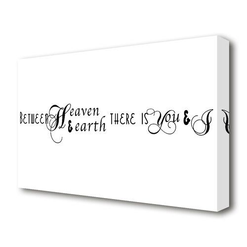 East Urban Home <p>between heaven and earth stretched text quotes canvas vivid colour. printed on heavy weight canvas. mounted on to 38mm box frame. this between heaven and earth text quotes canvas is ready to hang straight from the box.</p><strong>Features:</strong><ul><li>Gallery wrapped on 4.4 cm thick chunky box frame</li><li>Heavy weight matt canvas 280 gsm printed with the latest UV inks</li><li>Ready to hang</li><li>Product Type: Typography</li><li>Primary Art Material: Canvas<ul><li>Prim