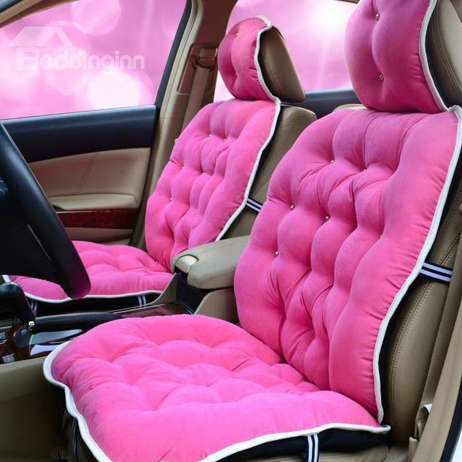 New Arrival High Quality Super Soft Cute Warm Seat Covers Pink Car Accessories Pink Car Cute Car Accessories