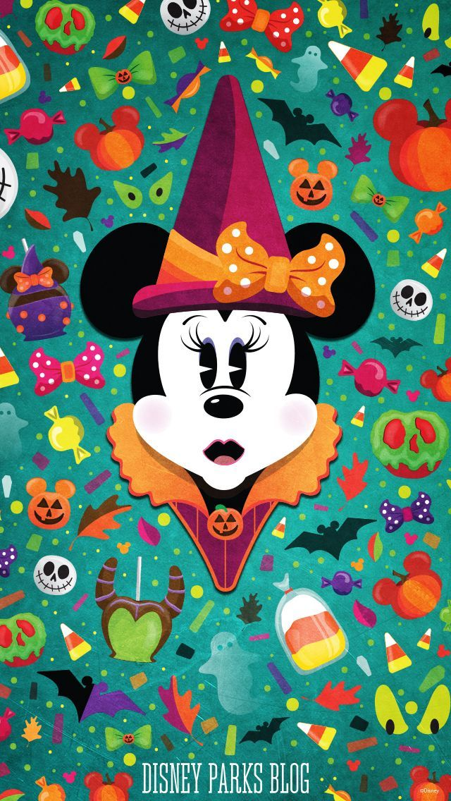 Disney Characters Iphone Wallpapers Halloween Minnie 640x1136