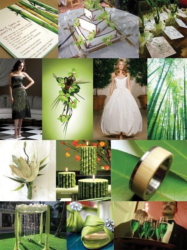 D coration mariage zen bambou vert version pur e for Decoration chambre zen bambou
