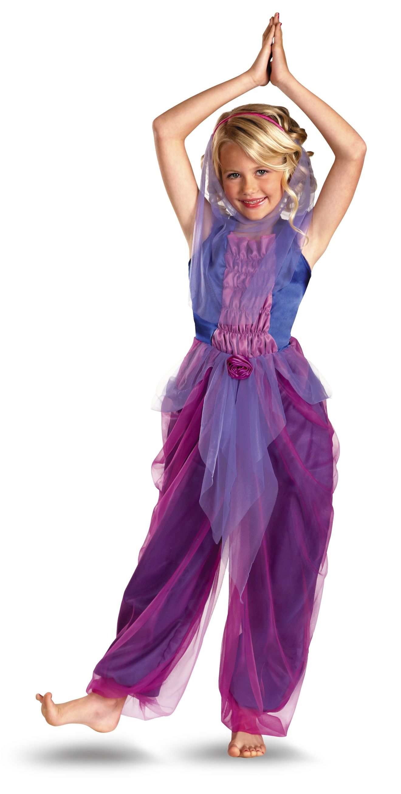 Garden Purple Genie Girl Costume