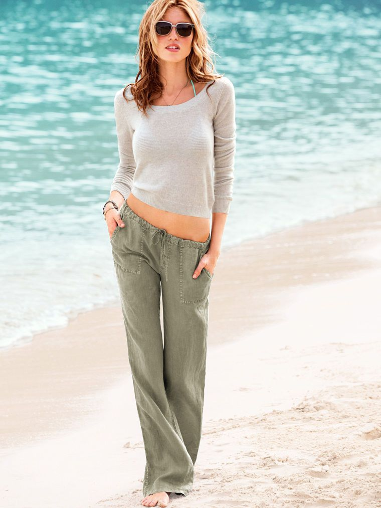ac8a3458c5 The Beach Pant in Linen - Victoria's Secret | Buy | Beach pants ...