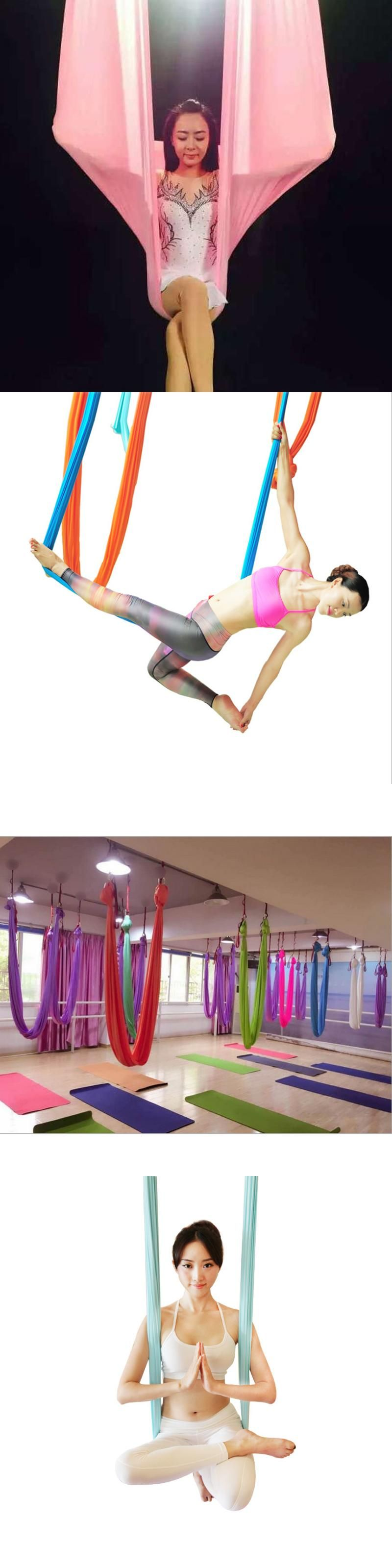 Aerial flying yoga hammock antigravity yoga swing belts yoga fabric