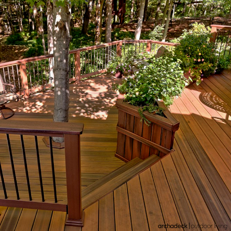Patio Deck Building Materials: Modern, Low-maintenance Decking Materials Are Used To