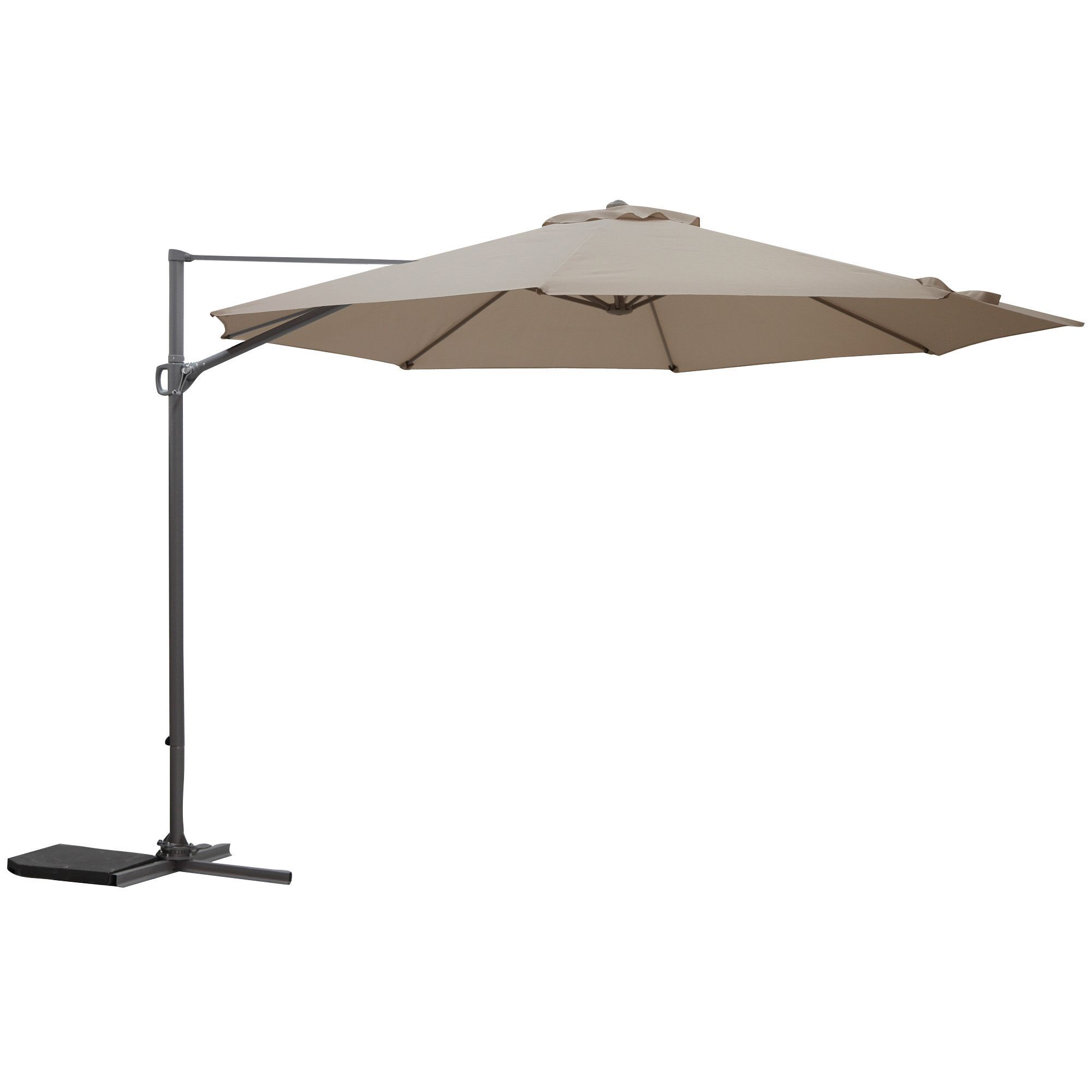 Mallorca 3.5m Brown & Taupe Overhanging Parasol | Rooms | DIY at B&Q ...