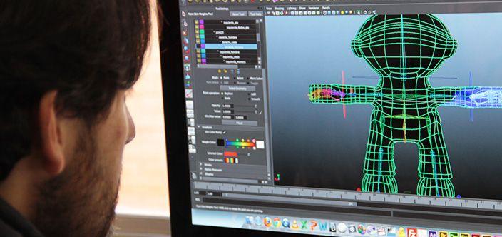 Maya 3D, Modelado