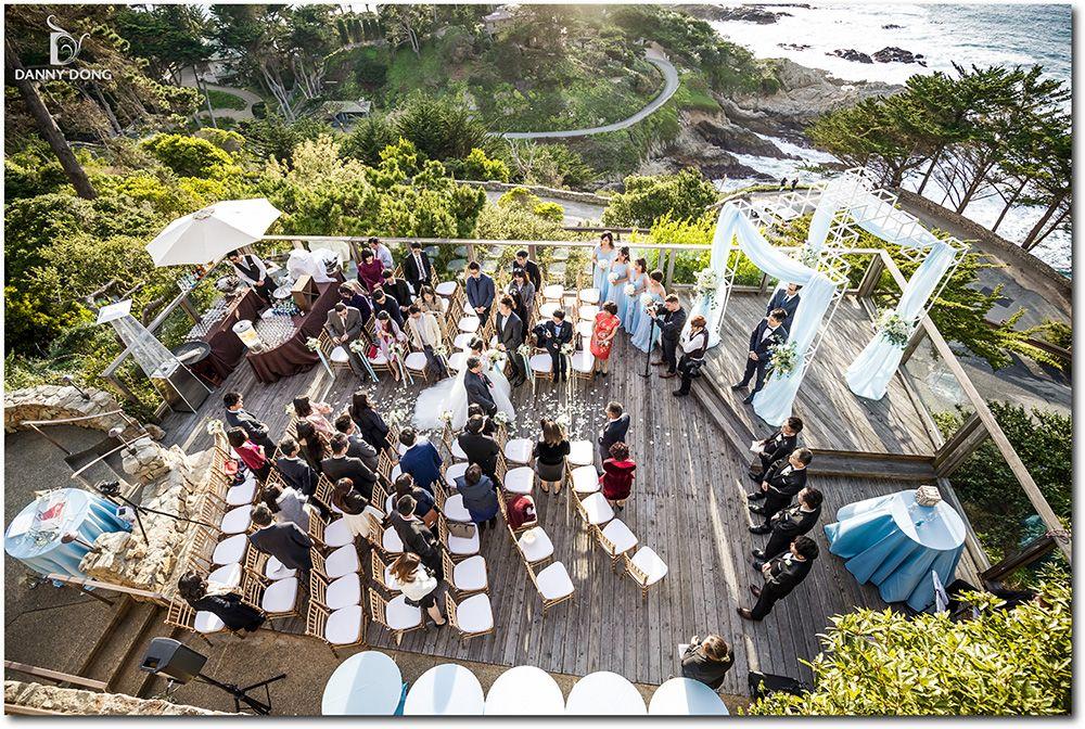 Powder Blue And White Oceanside Wedding At Hyatt Carmel Highlands Inn Event Planning Styling Desig Photography And Videography Event Planning Event Venues