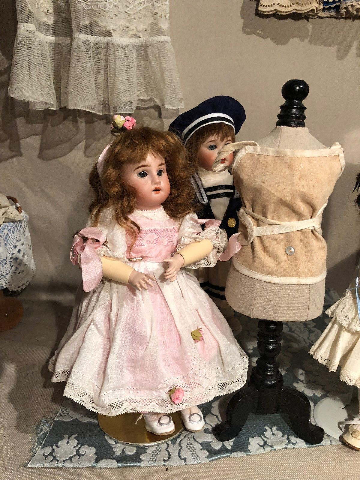 Early Bleuette 8 Fleischmann Dress And Extras Ebay Doll Clothes Flower Girl Dresses French Dolls