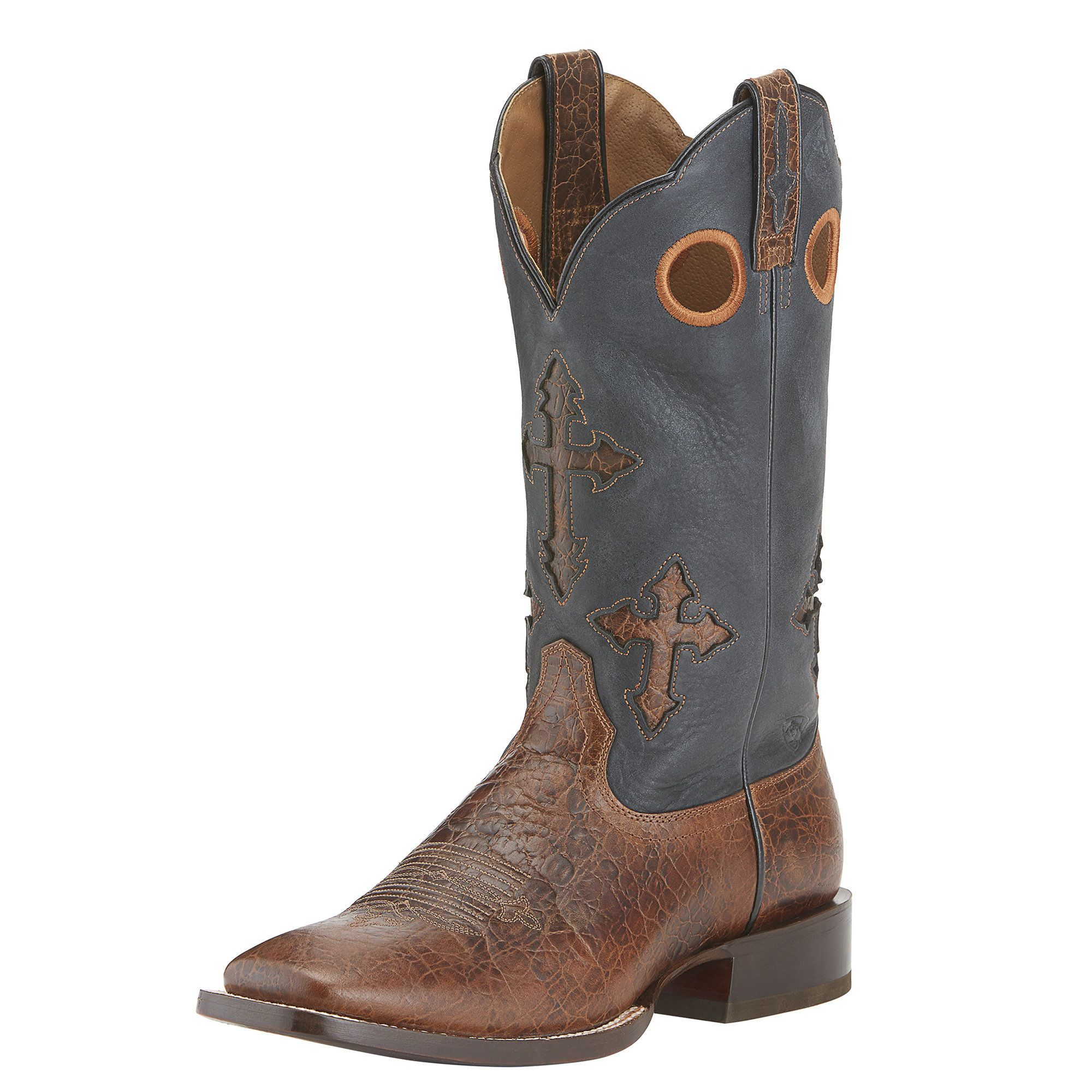Men's Ranchero Western Boots in Adobe Clay Leather, Size 9
