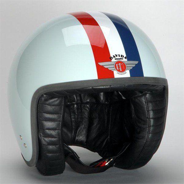 infinity motorcycles. davida helmet jet target blue white | infinity motorcycles