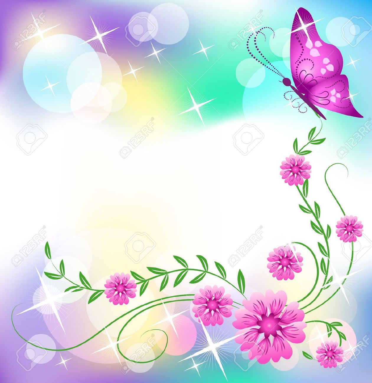 butterfly border clip ...Clipart Flowers And Butterflies Border