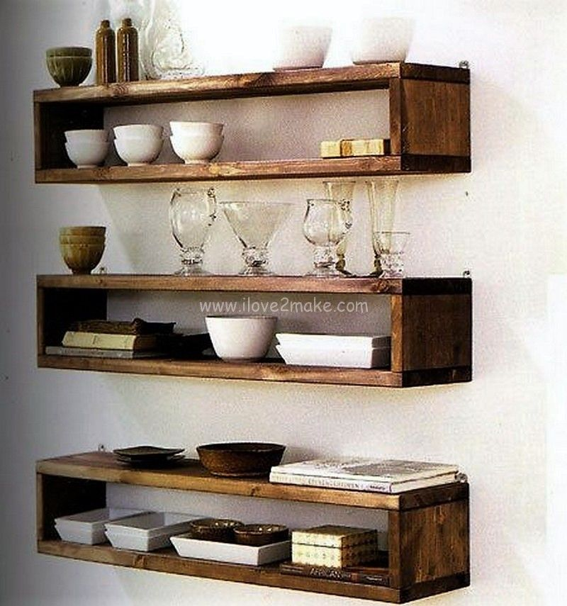 Modern Ideas With Pallet Wooden Floating Shelves Diy Wood