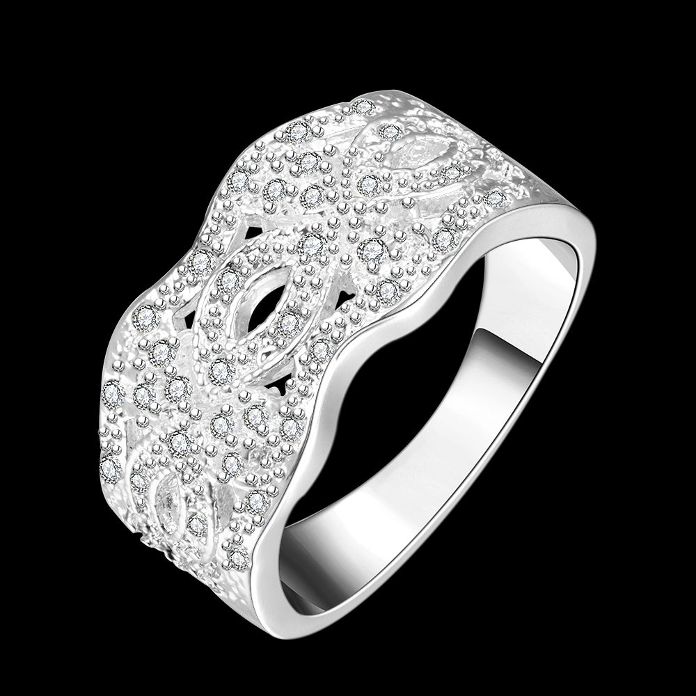 new top quality sterling silver wide thick hollow flower
