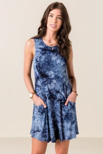 Krystal Tie Dye Shift Dress