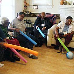 Noodle Ball Nursing Home Activities Elderly Activities Senior Activities