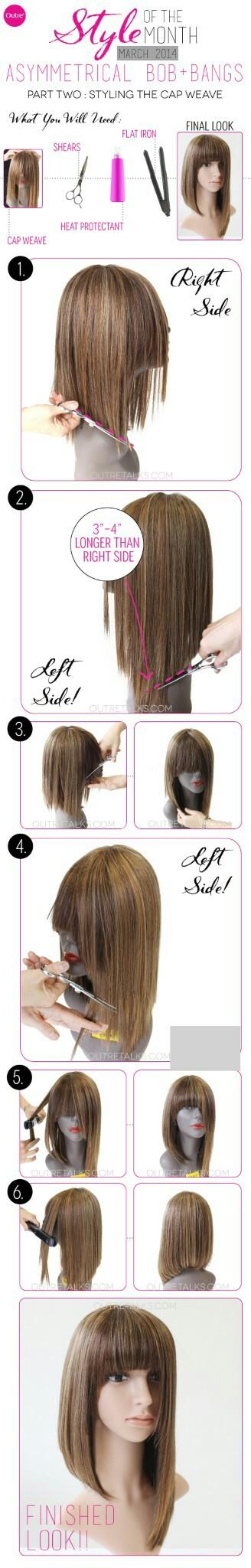 Styling Asymmetrical Bob Glue In Hair Extensions Diy Hair Extensions Natural Hair Diy