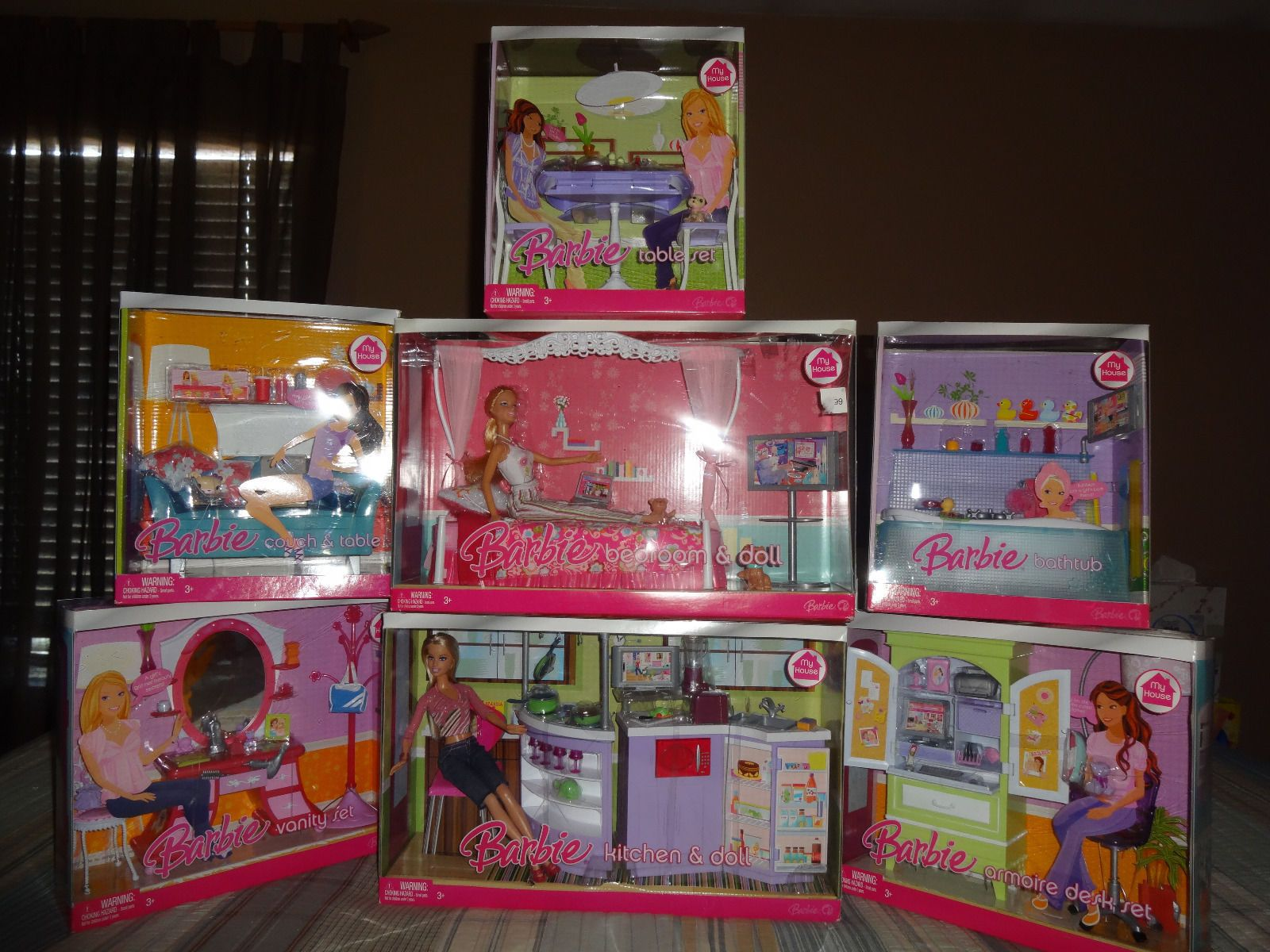 Barbie Bedroom In A Box: Barbie My House Playsets By Mattel, C. 2006