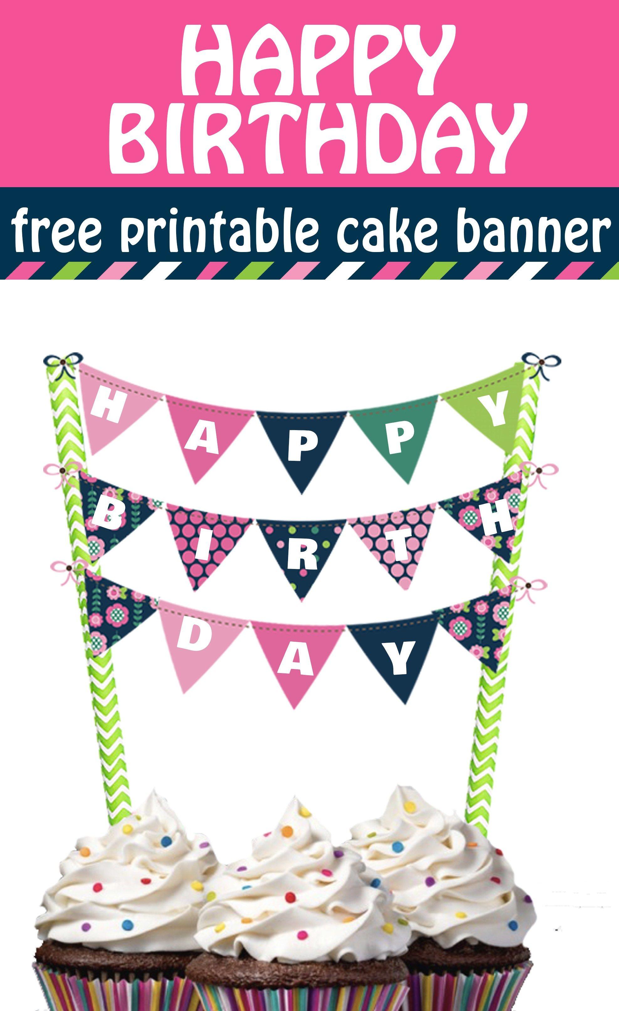 30 Elegant Picture Of Happy Birthday Cake Banner Davemelillo Com Birthday Cake Topper Printable Happy Birthday Cakes Happy Birthday Free Printable