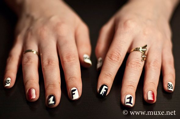 Formula One Nail Art Pinterest