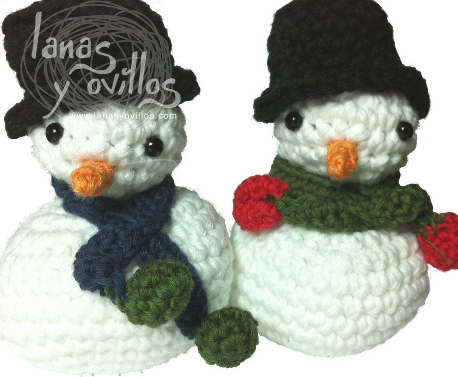 Muñeco de nieve Amigurumi Patrón Gratis en Castellano y con ...