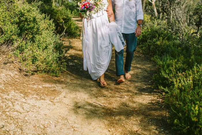 Barefoot Beach bride | itakeyou.co.uk #beachwedding