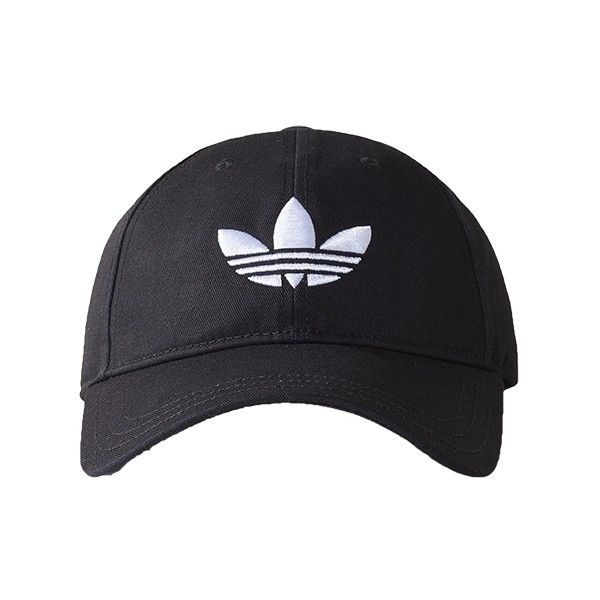 505d3f39 adidas Originals Trefoil Cap Black/White ($17) ❤ liked on Polyvore  featuring accessories, hats, adidas originals, black and white hat, black  and white cap, ...