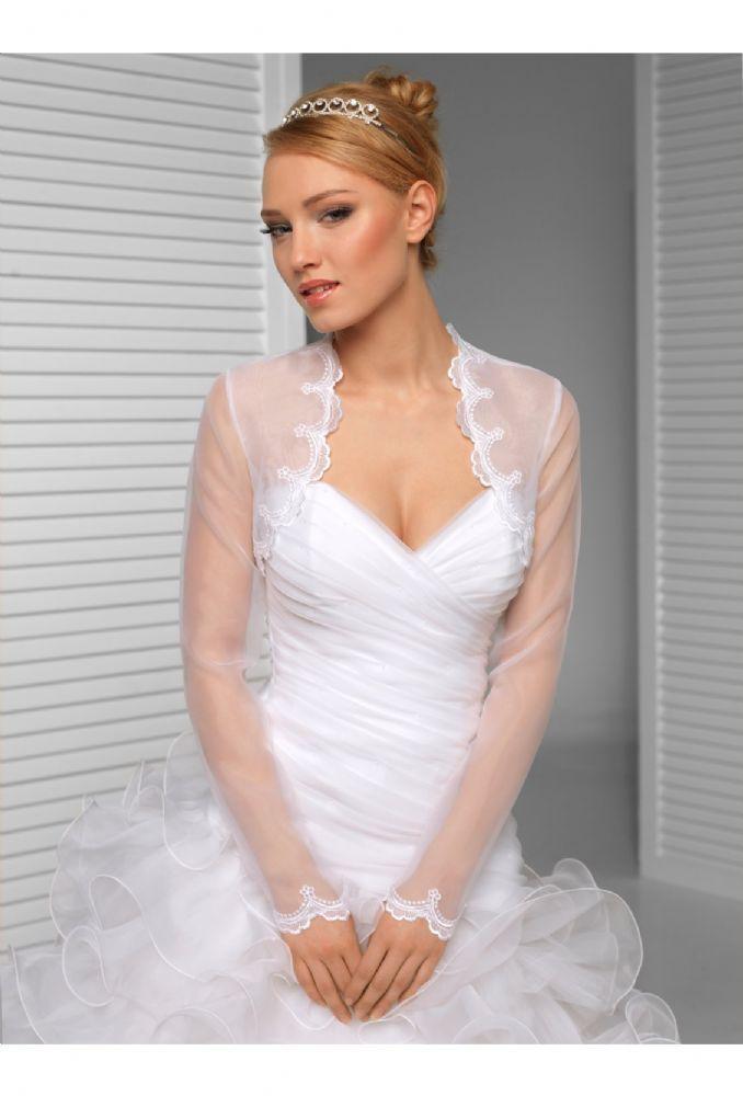 Clara Organza Bridal Bolero Organza wedding jacket